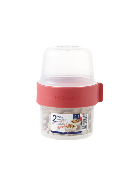 Lock & Lock - LLS211 - Two Way Container 150 ml +150 ml (Red)