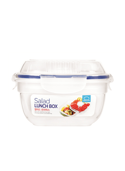 HSM8440T - Salad Lunch Box 950ML - W/Tray Sauce Bottle (Special)