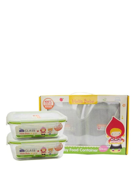 LLG428HBS001 - Hello Bebe Baby Food Container Glass Set