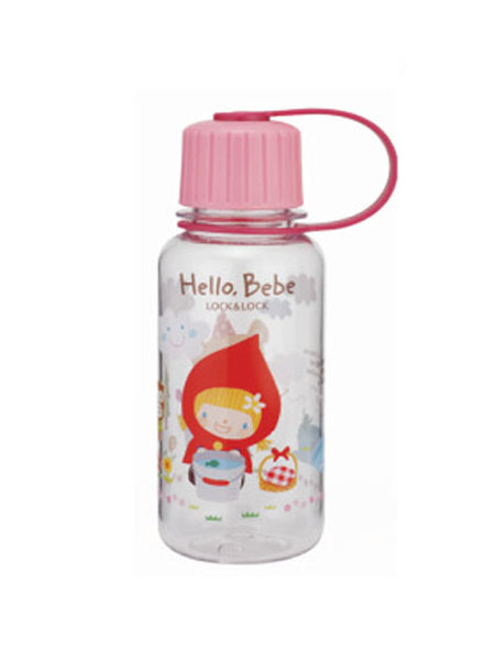 ABF640_HBP - Hello Bebe Bisfree Pattern Water Bottle 260ML(Pink)