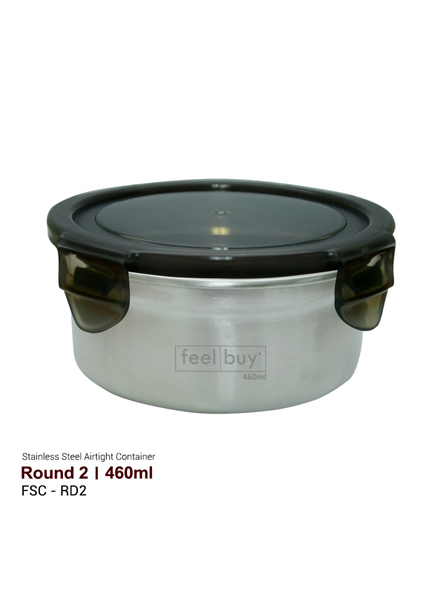 Feelbuy Stainless Steel Food Container Round 460ml