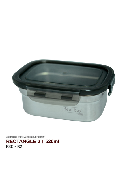Feelbuy Stainless Steel Food Container Rectangular 520ml