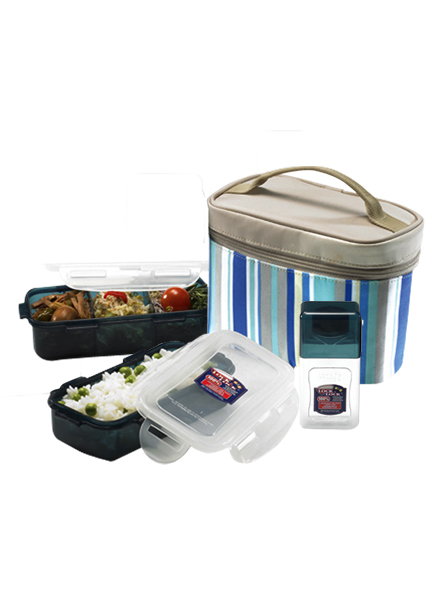 HPL754RB - Lunch Box Set(3P) W/Blue Bag W/Spoon&ForK