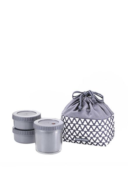 HPL746CD - Round Lunch Box,L (Dark Gray)
