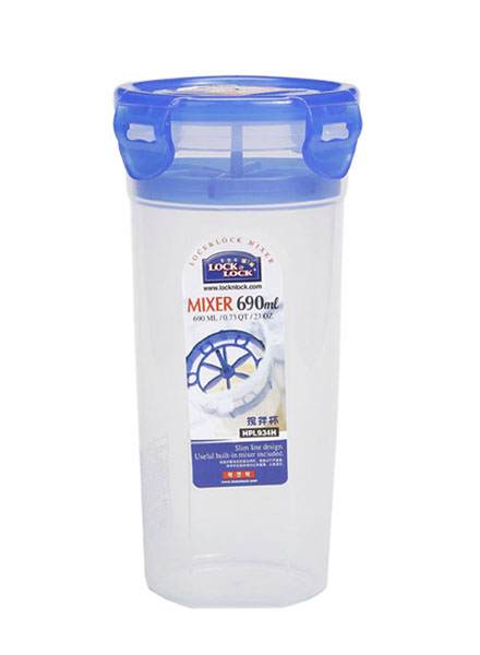 HPL934H - Round Tall Container 690ML W/Shaker