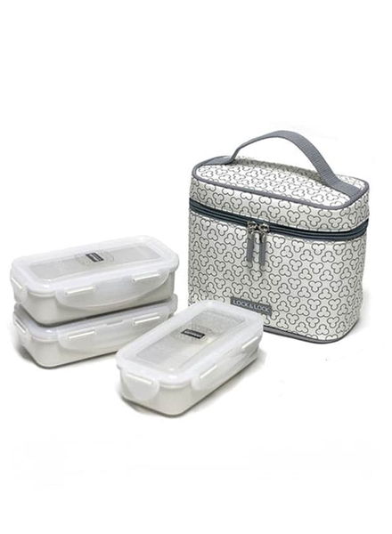 Lock & Lock - HPL754CDS - Lunch Box Set (3P) with Spoon & Fork