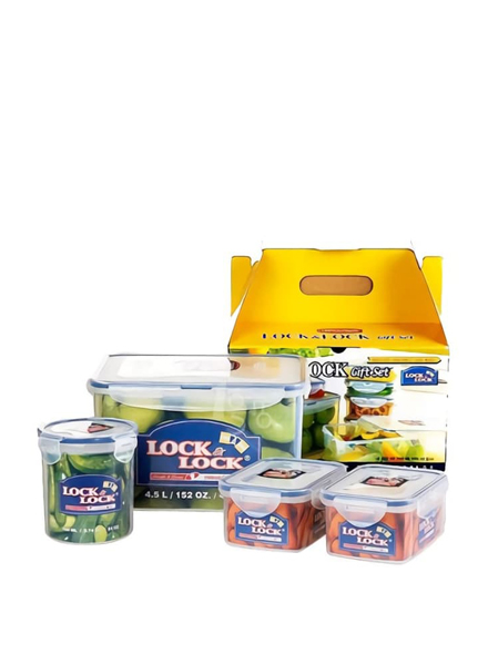 Lock & Lock - HPL827SC04 - Food Container Set with Color Box