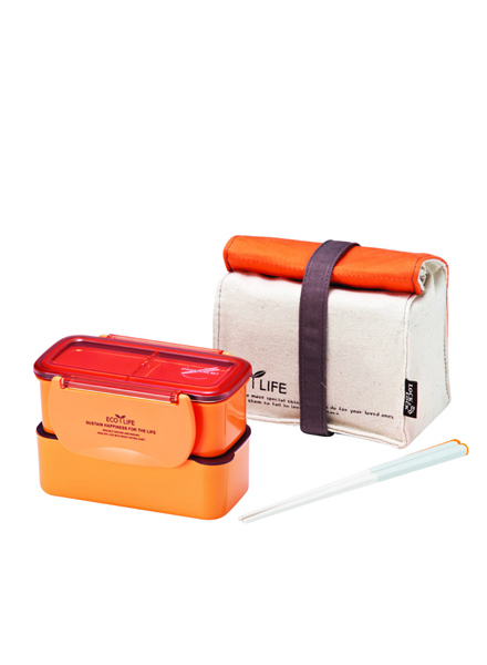 HPL742R -  Mini Lunch Box Set W/Orange Bag