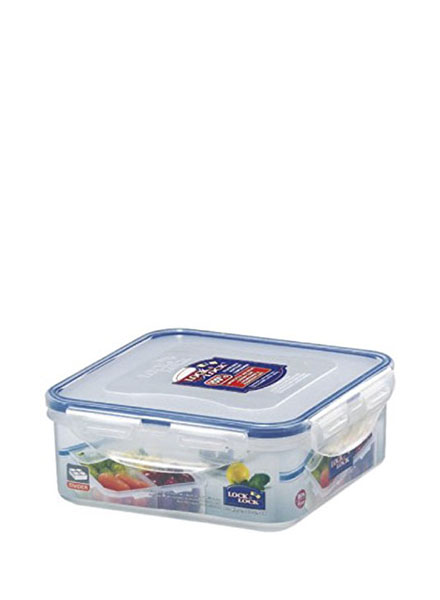 HPL823C - Square Short Container 870ML W/Divider