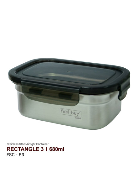 Feelbuy Stainless Steel Food Container Rectangular 680ml