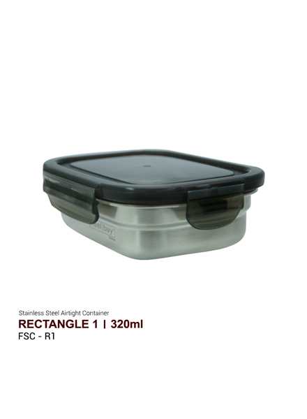 Feelbuy Stainless Steel Food Container Rect 320ml