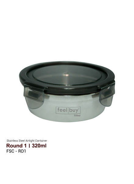 Feelbuy Stainless Steel Food Container Round 320ml