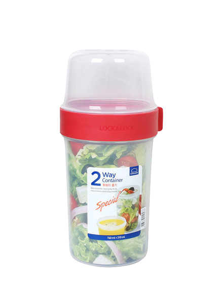 Lock & Lock - LLS223 - Two Way Container 760 ml + 310 ml (Red)