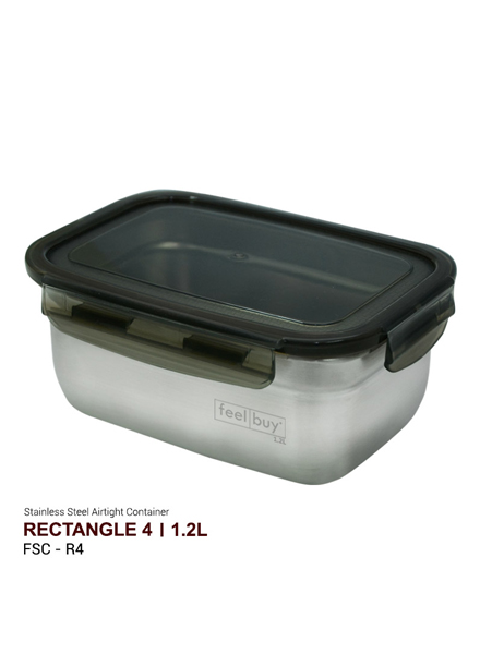 Feelbuy Stainless Steel Food Container Rectangular 1.2L
