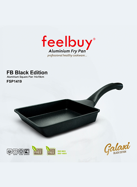 Feelbuy Galaxi - FSP1419 - FB Black Edition Aluminium Square Pan