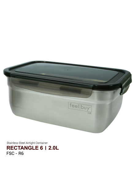 Feelbuy Stainless Steel Food Container Rectangular 2.0 L