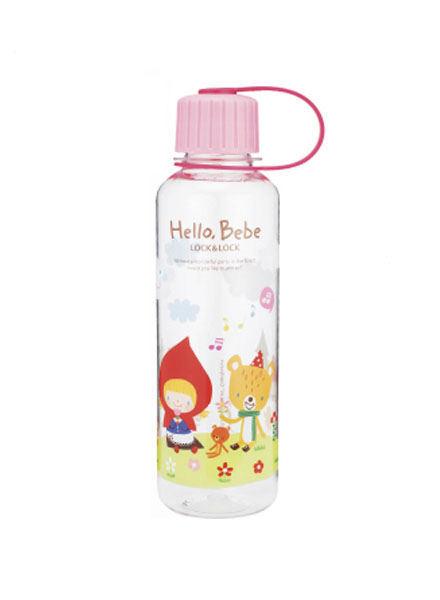 ABF642_HBP - Hello Bebe Bisfree Pattern Water Bottle 480ML(Pink)