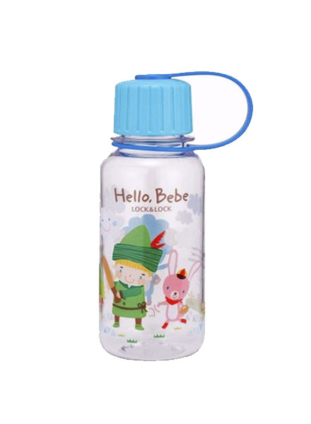 ABF640_HBB - Hello Bebe Bisfree Pattern Water Bottle 260ML(Blue)
