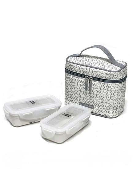 Lock & Lock - HPL752CDS - Lunch Box Set (2P) with Spoon & Fork